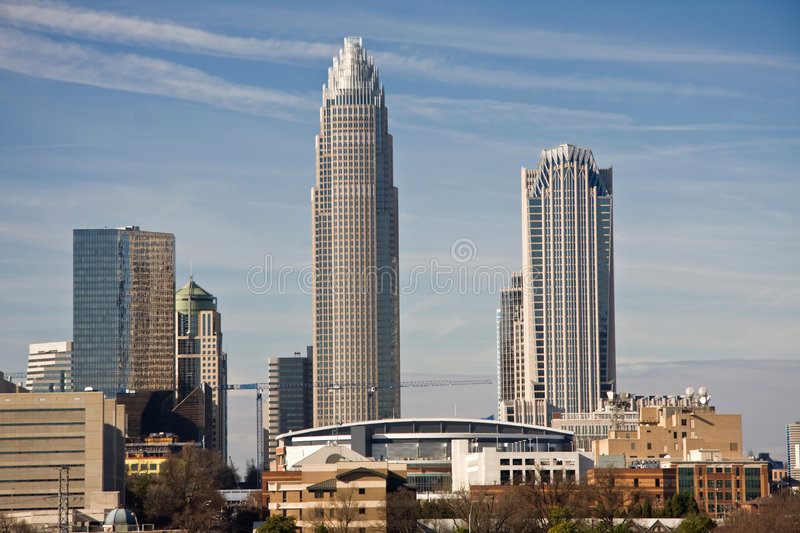 Charlotte Towers and Bobcats Arena
