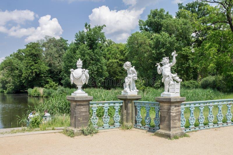 Charlottenburg pałac Berlin statua obrazy stock