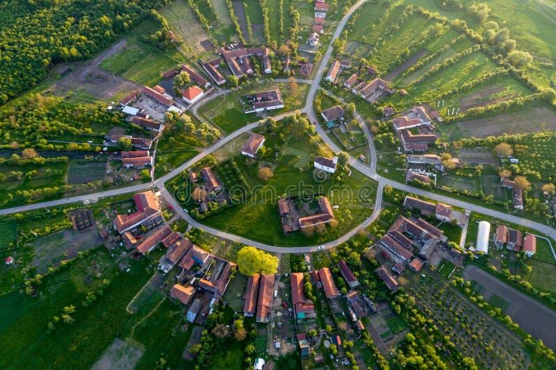 Charlottenburg - schönes einzigartiges Kreisdorf in Rumänien lizenzfreie stockfotos