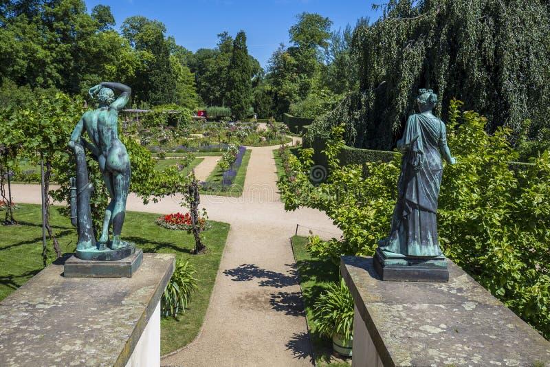 Charlottenhof宫殿在Sanssouci公园在波茨坦 德国 免版税库存图片