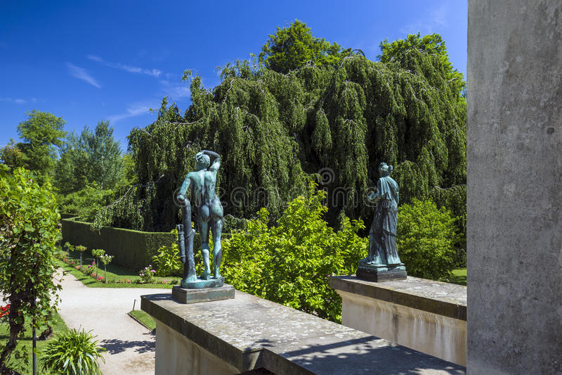 Charlottenhof宫殿在Sanssouci公园在波茨坦 免版税图库摄影