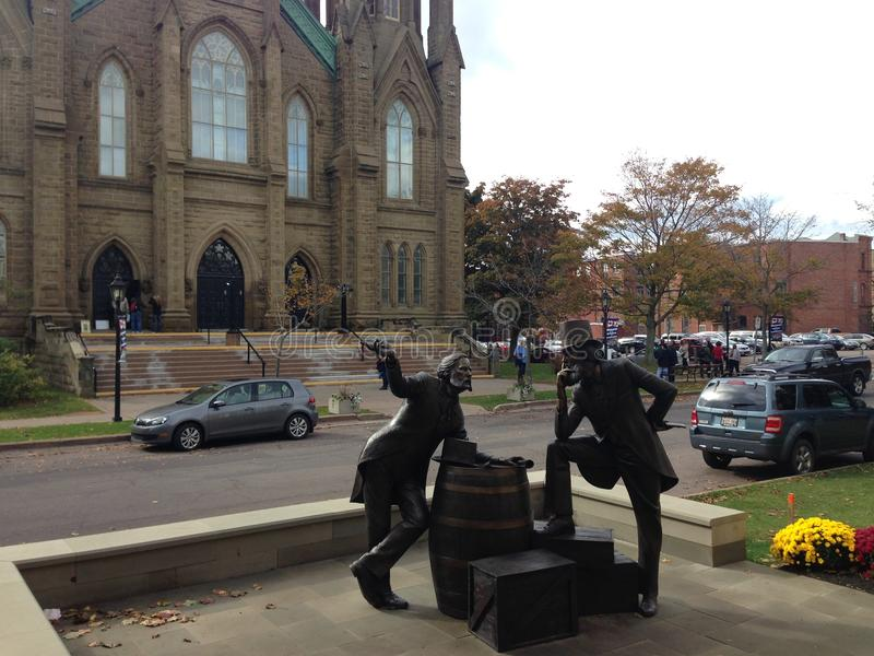 Charlottetown kyrka royaltyfria bilder