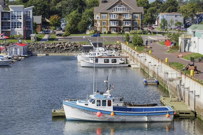 Fishing Boat in Charlottetown. CHARLOTTETOWN, PRINCE EDWARD ISLAND - September 24, 2015: Charlottetown is the capital Canadian province of Prince Edward Island royalty free stock photos