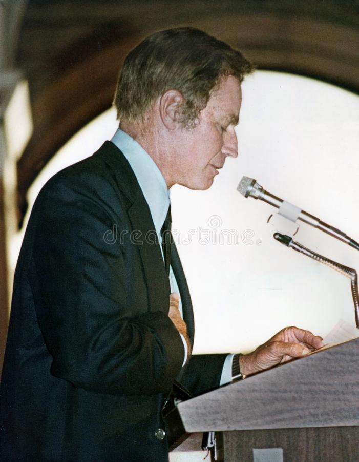 Charlton Heston immagini stock