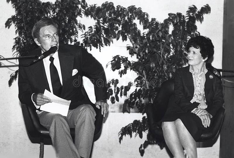 Charlton Heston e Lydia Clarke Heston fotografie stock