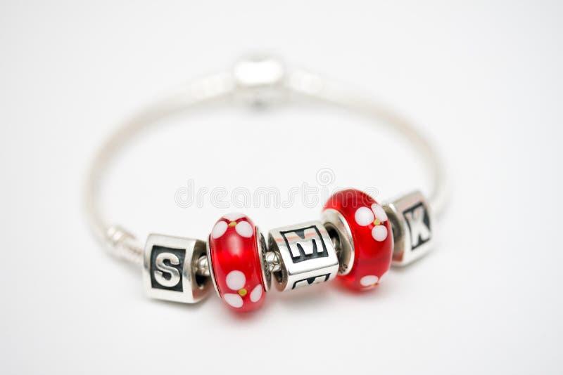 Charm bracelet royalty free stock image