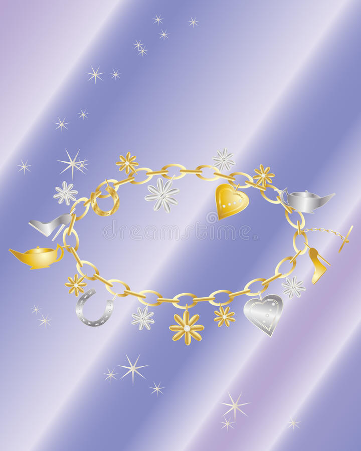 Download Charm bracelet stock vector. Illustration of silver, horseshoe - 16942677