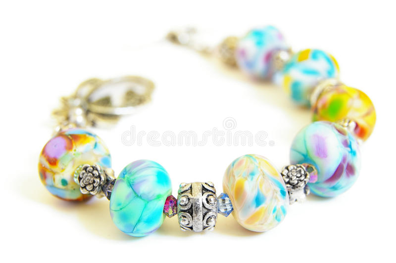 Charm bracelet stock photos
