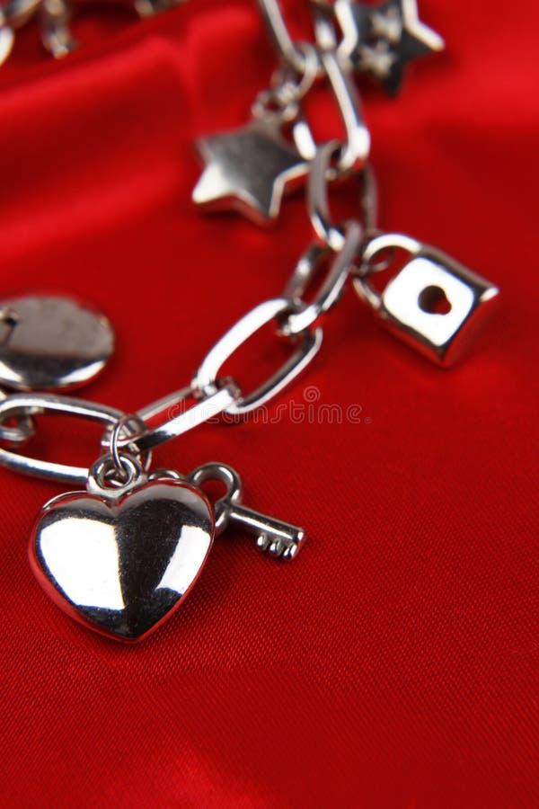 Charm bracelet stock image