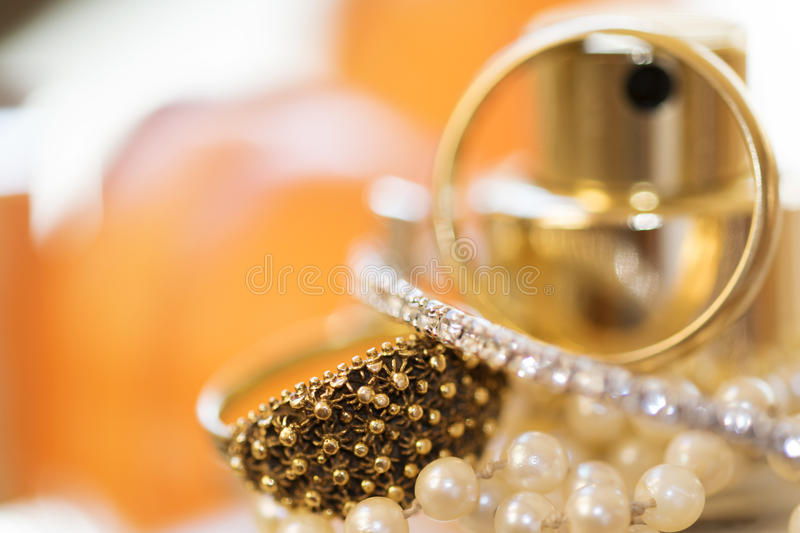 Charm elegance and jewels stock photos