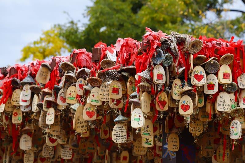 Charme chanceux chinois dans la ville historique de Lijiang, Yunnan, Chine photographie stock libre de droits