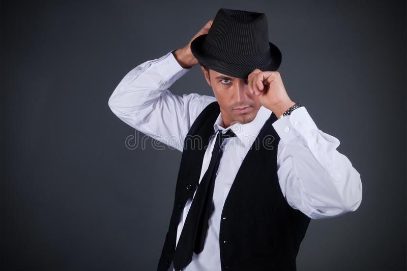 Charme-junger Mann stockfotos