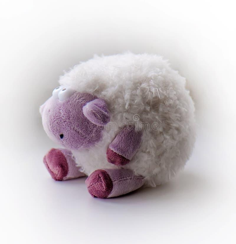 Charme rêvant des moutons (jouet de peluche) image libre de droits