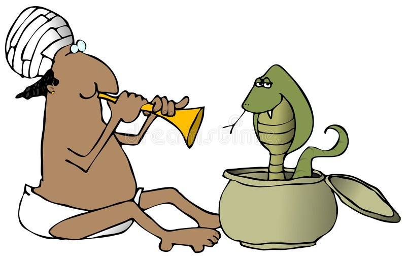 Charmeur de serpent illustration de vecteur