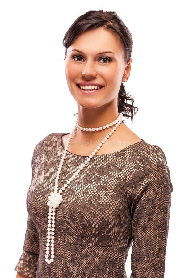 charmig stående för brunett royaltyfria foton
