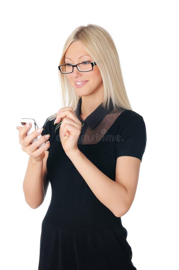 Charmig ung affärskvinna royaltyfri foto