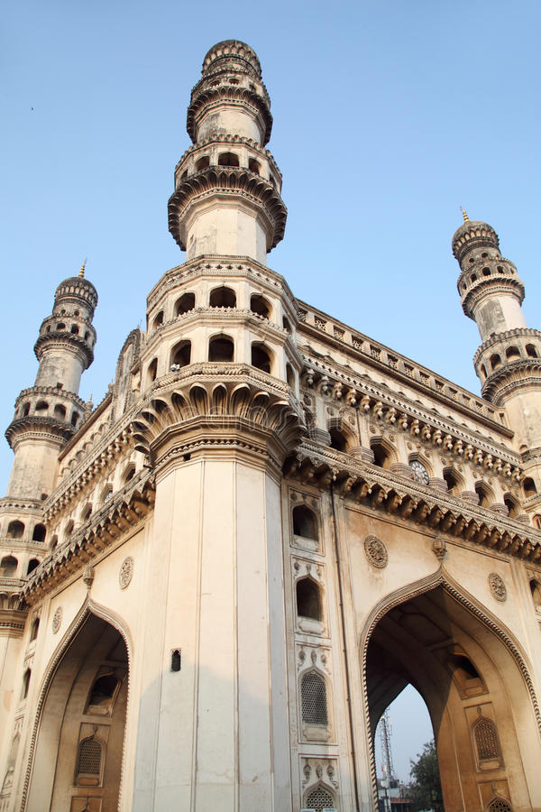 Charminar在海得拉巴,印度 库存照片