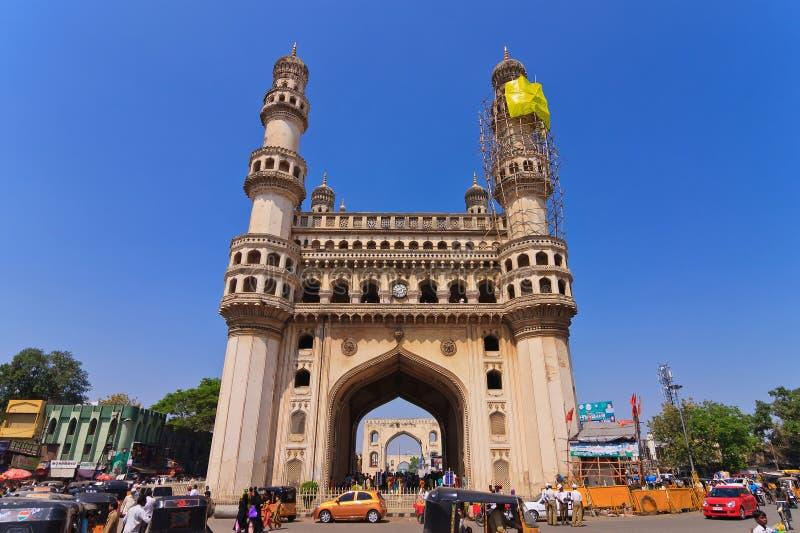 Charminar海得拉巴,安得拉邦,印度。 免版税库存照片