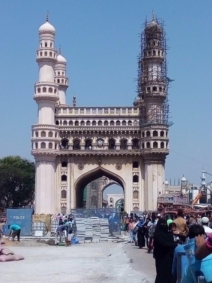 Charminar à Hyderabad photographie stock libre de droits