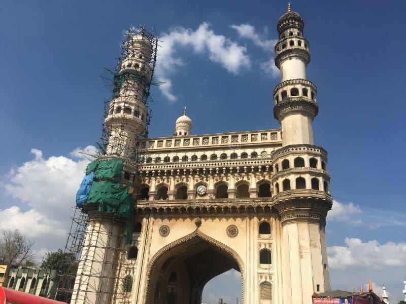 Charminar в Хайдарабаде Индии стоковая фотография rf