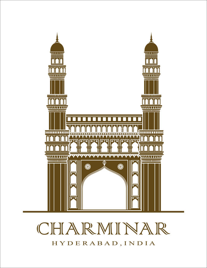 Charminar illustration stock