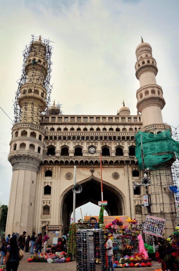 Charminar de Hyderabad, la India imagen de archivo libre de regalías