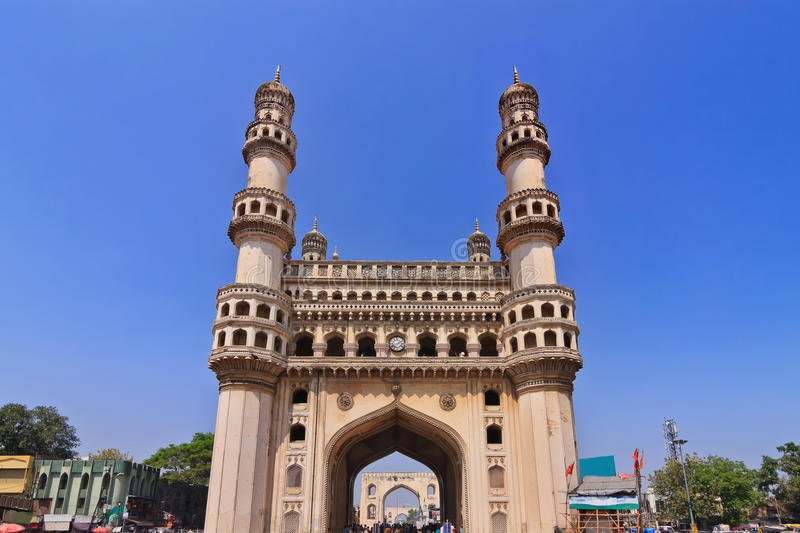 Charminar, Hyderabad, India. The historical Charminar, Hyderabad, India stock image