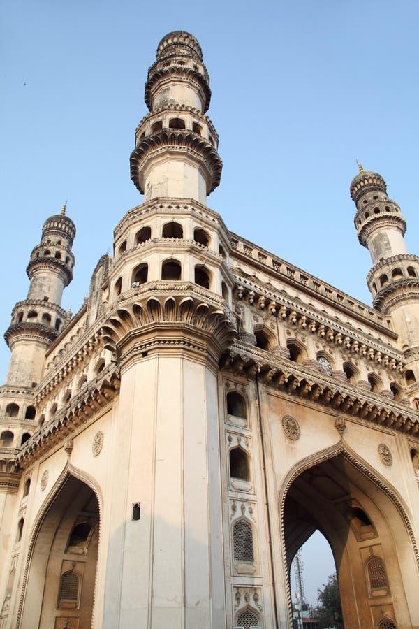 Charminar på Hyderabad, Indien arkivfoto