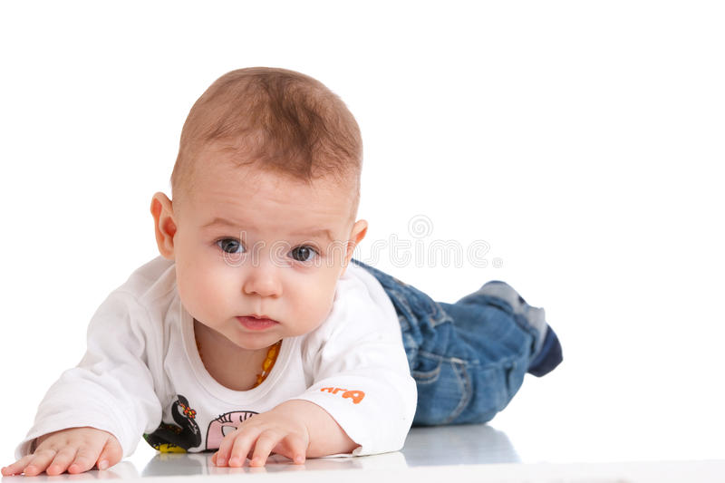 Charming baby stock image