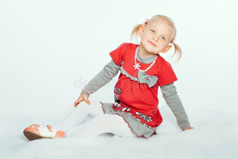 Charming baby girl stock image
