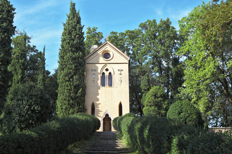 Charming baroque chapel stock images