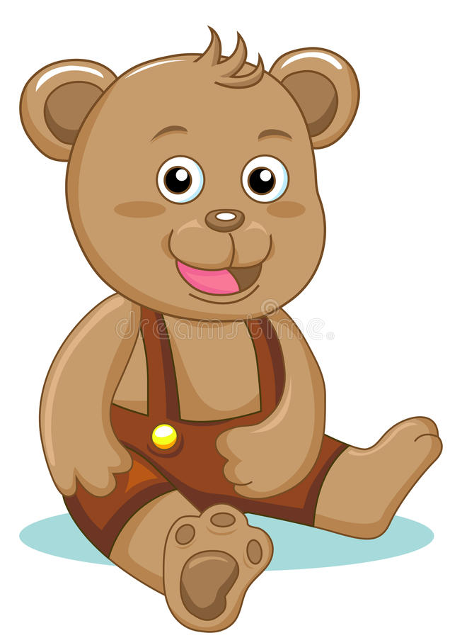 Download Charming bear stock vector. Image of child, single, character - 16343828