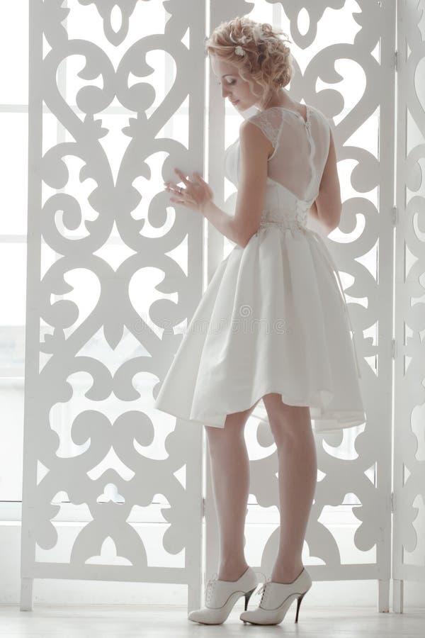 Charming beautiful bride royalty free stock photos