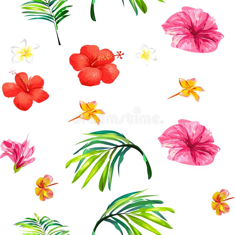 Charming beautiful seamless floral pattern, on a white background. stock photography