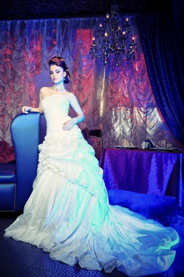 Charming bride royalty free stock photo