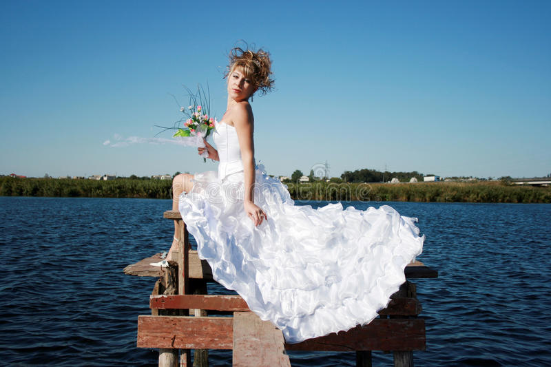 Download Charming Bride Relaxing On The Sun Stock Photo - Image of bridal, contestant: 13156042