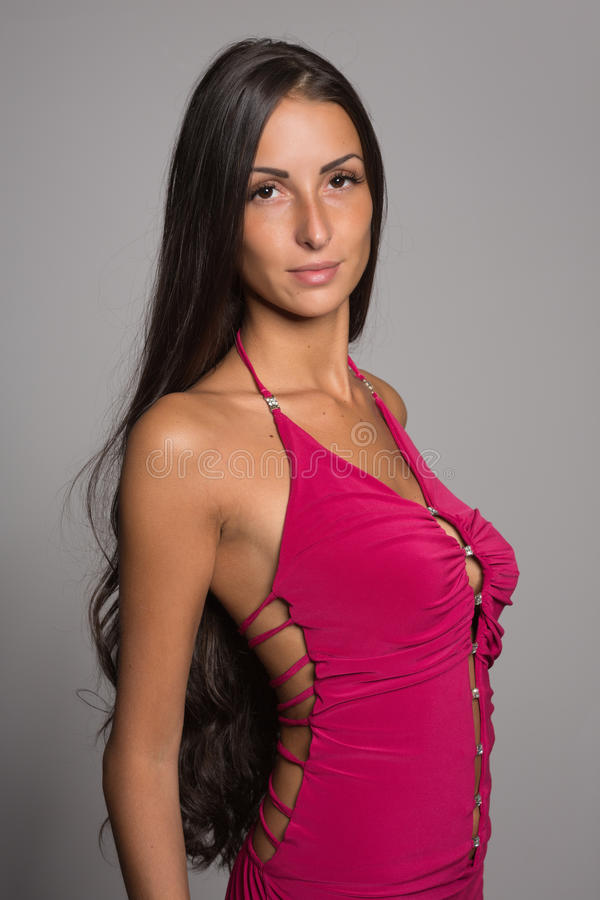 Charming brunette girl royalty free stock images