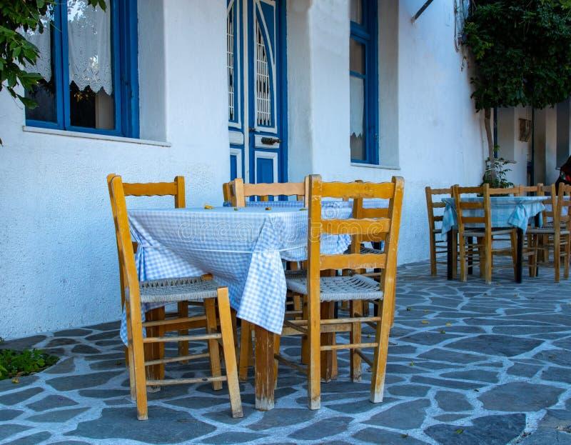 A Charming Cafe on the Island of Naxos. A charming little cafe on the island of Naxos, Greece stock photo