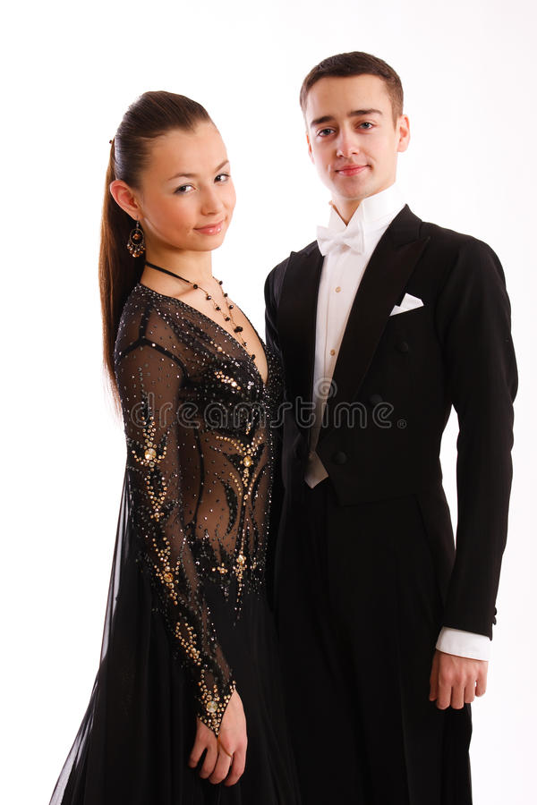 Download A Charming  Dance Pair In Good-looking Suits Stock Photo - Image: 17796154