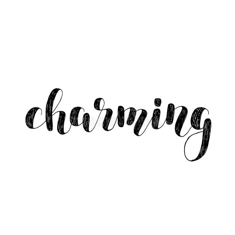 charming Ejemplo de las letras del cepillo stock de ilustración