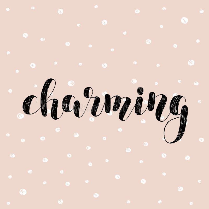 charming Ejemplo del vector de las letras del cepillo stock de ilustración