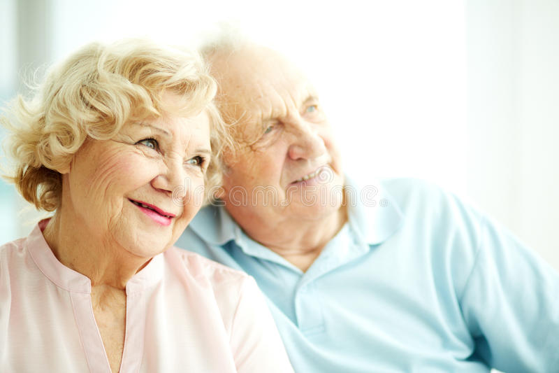 Charming elderly female royalty free stock photos