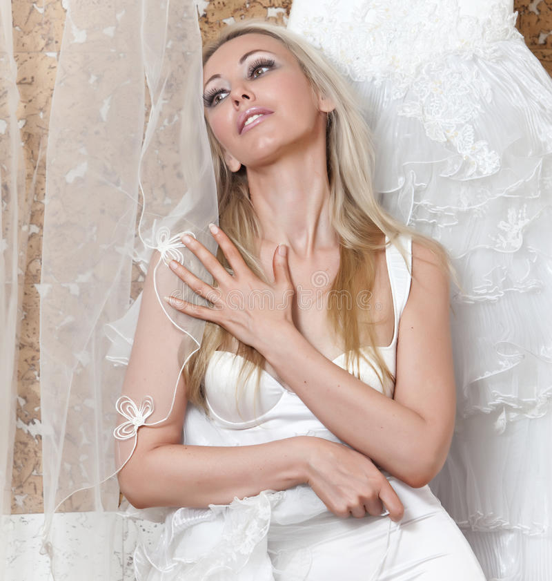 The Charming Girl Dreams Of Wedding Stock Photography