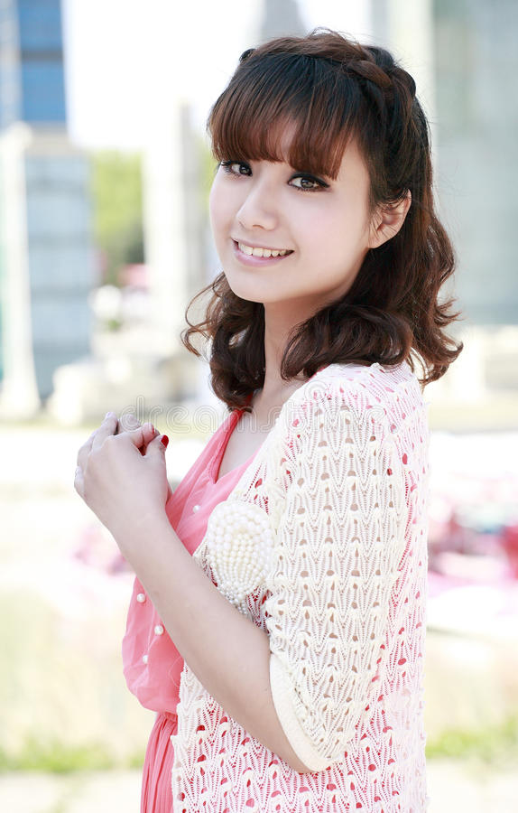 Charming girl outdoor