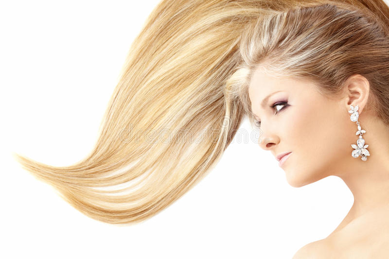 Charming hairdress stock photography