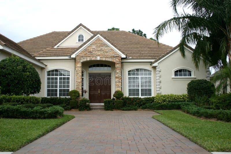 Charming home in tropics stock photos