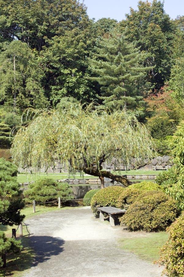 Charming Japanese garden royalty free stock photos