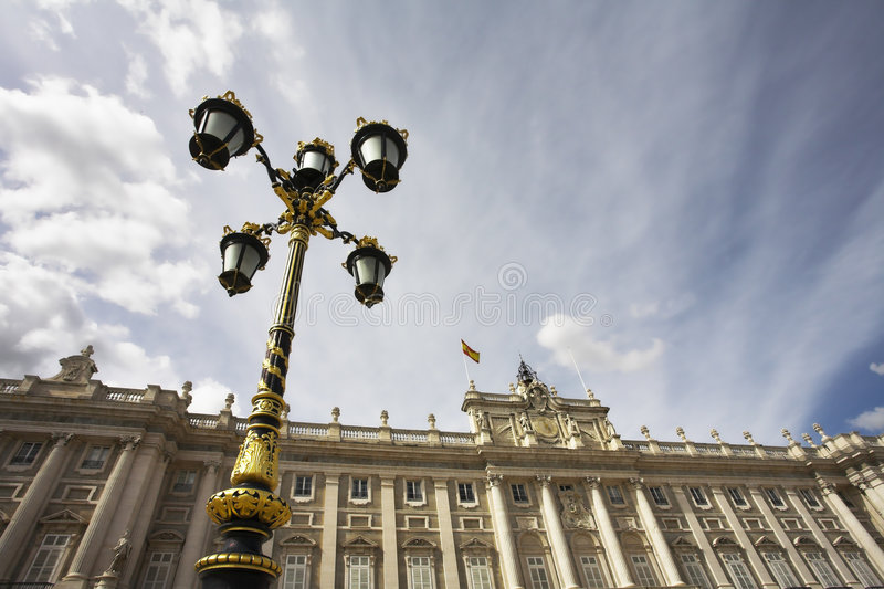 Charming lantern in style of a baroque royalty free stock images