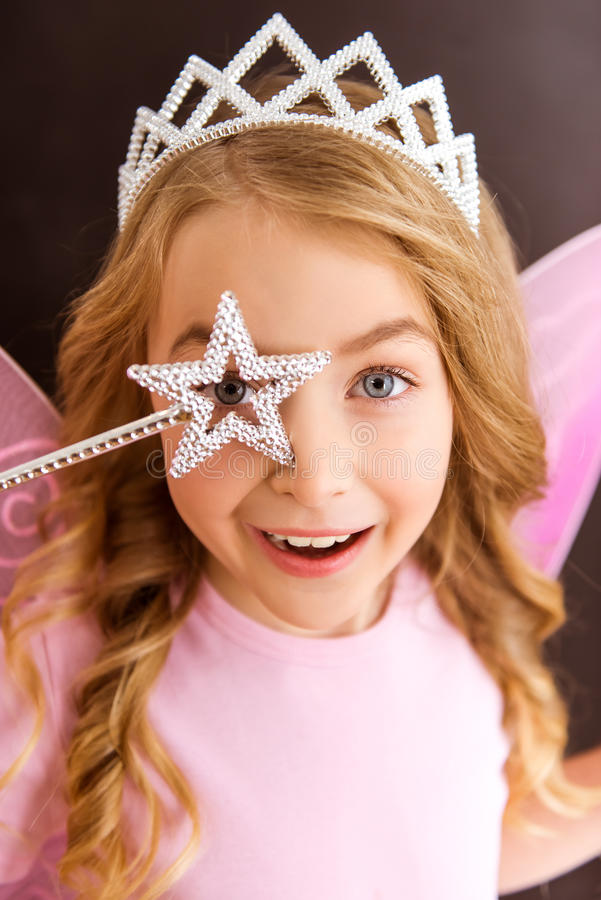 Download Charming little fairy stock image. Image of blond, celebration - 65779445