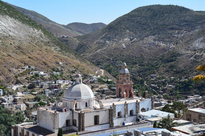 Real de Catorce Pueblo Magico near San Luis potosi Mexico. The charming little village of Real de Catorce in the province of San Luis potosi in the middle of the royalty free stock photography